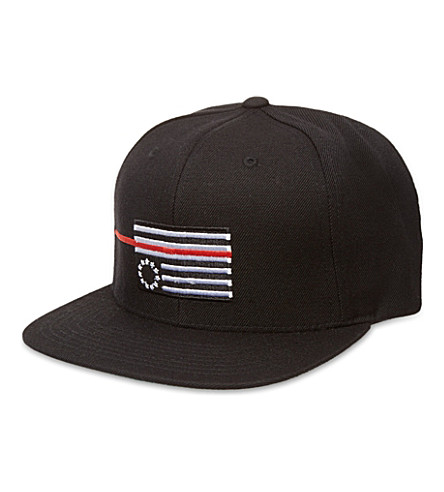 BLACK SCALE Red rebel flag snapback cap (Black