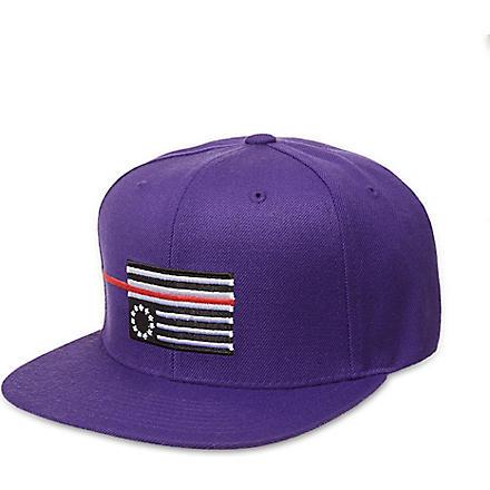 BLACK SCALE Red rebel flag snapback cap (Purple
