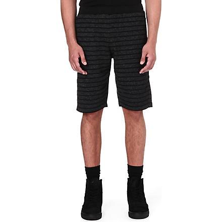 BLACK SCALE O'neal striped shorts (Black