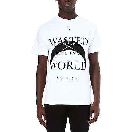 BLACK SCALE A Wasted Life t-shirt (White