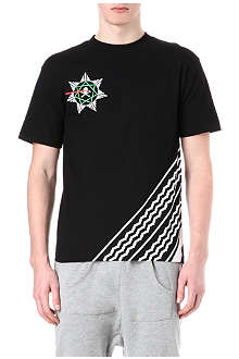 BLACK SCALE Seventh Star Skull t-shirt