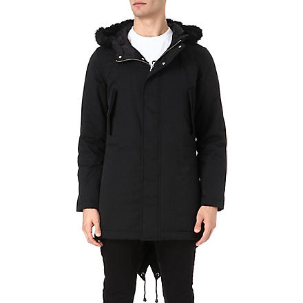 BLACK SCALE Torpedo parka (Black