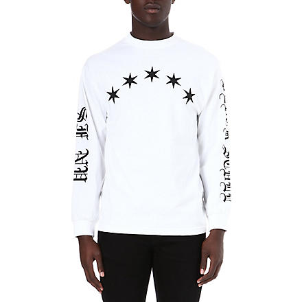 BLACK SCALE Logo-printed star top (White