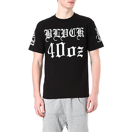 BLACK SCALE Logo-printed star t-shirt (Black