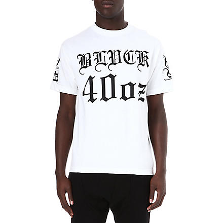 BLACK SCALE Logo-printed star t-shirt (White