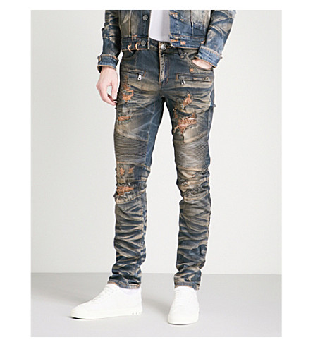 EMBELLISH Braxton distressed slim-fit skinny jeans (Vintage+indigo