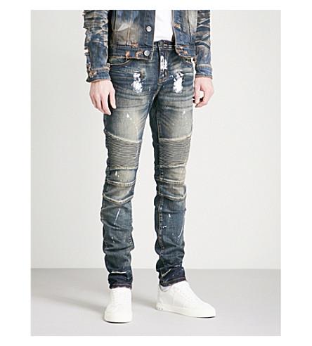 EMBELLISH Sinatra distressed slim-fit skinny jeans (Indigo+acid
