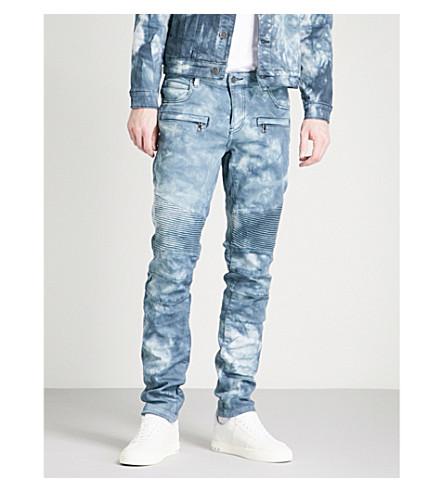 EMBELLISH Braxton acid wash slim-fit skinny jeans (Indigo+acid