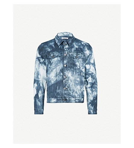 EMBELLISH Acid wash denim jacket (Indigo acid