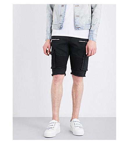 EMBELLISH Hendrix slim-fit skinny cargo shorts (Black