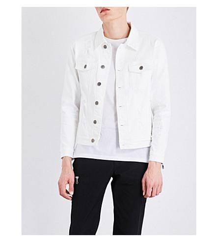 EMBELLISH Phantom distressed denim jacket (White