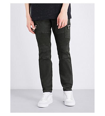EMBELLISH Holmes biker slim-fit skinny jeans (Dark+olive