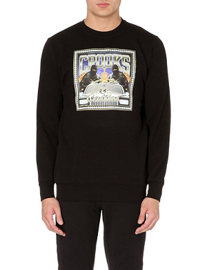 CROOKS AND CASTLES Printed jersey sweatshirt