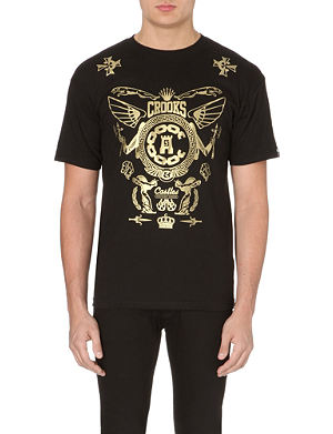 CROOKS AND CASTLES Maximus motif cotton-jersey t-shirt