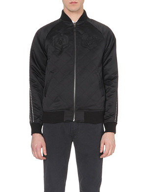 CROOKS AND CASTLES Yakuza satin bomber jacket