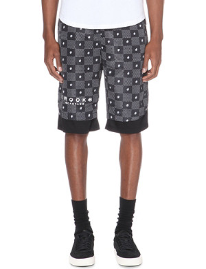 CROOKS AND CASTLES Paisley and dot-print shell shorts