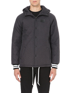 CROOKS AND CASTLES Quilted hood jacket