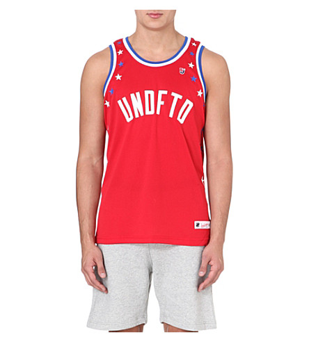 UNDEFEATED Star mesh vest (Red