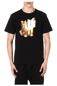 UNDEFEATED Flaming 5 strike t-shirt