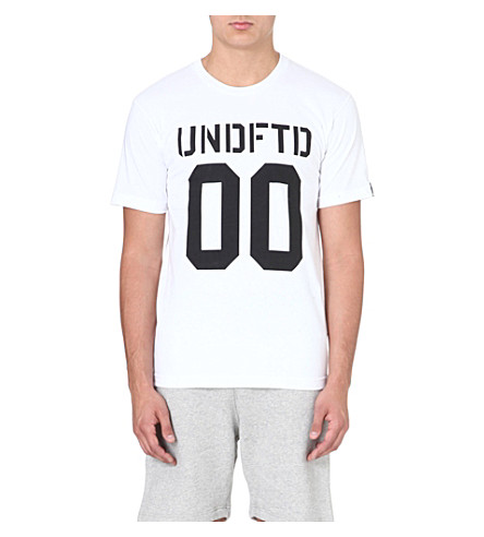 UNDEFEATED 00 cotton t-shirt (White