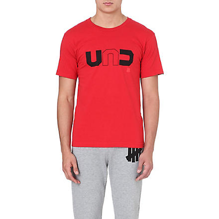 UNDEFEATED Logo-print cotton t-shirt (Red