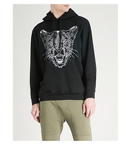 MARCELO BURLON Puma-print cotton-jersey hoody (Black+multi