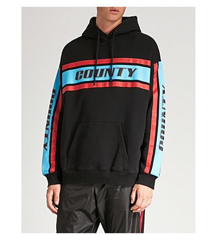 Sudadera capucha jersey estampado de Negro de y MARCELO con con BURLON algodón multicolor logo qA15t
