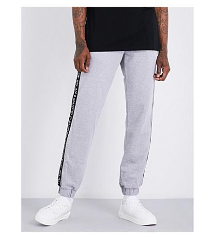 MARCELO BURLON Logo-print cotton-jersey jogging bottoms (Melange+grey
