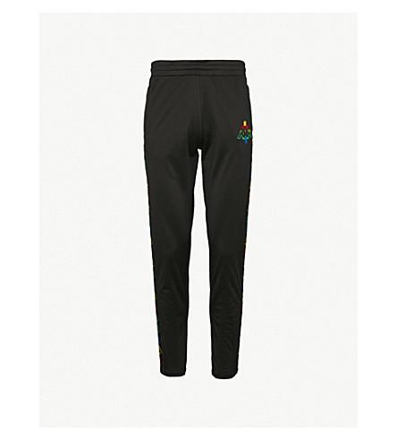 MARCELO BURLON Kappa relaxed-fit shell jogging bottoms (Black+multicolor