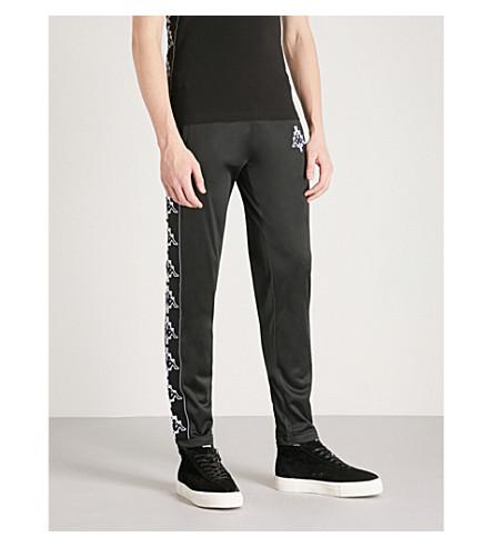 MARCELO BURLON Kappa logo-detail jersey jogging bottoms (Black+white
