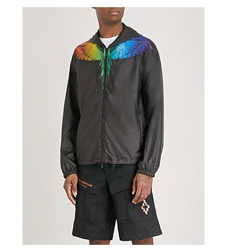 MARCELO BURLON Rainbow-wing shell windbreaker jacket (Multi