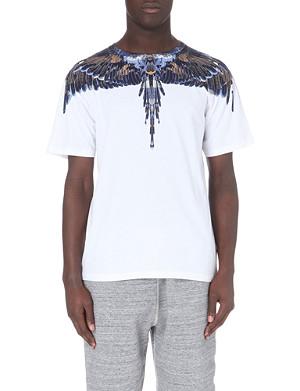 MARCELO BURLON Alas feather-print t-shirt