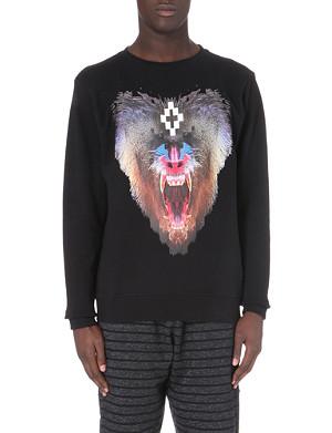 MARCELO BURLON Samir baboon-print sweatshirt