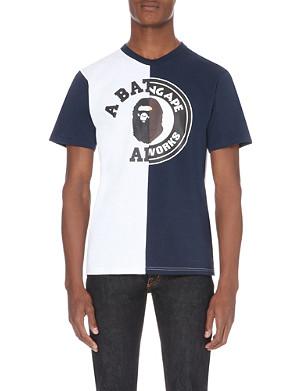 A BATHING APE Colour-block cotton t-shirt