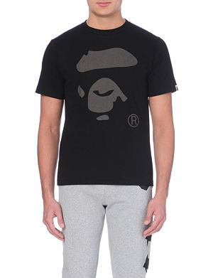 A BATHING APE Ape face print cotton t-shirt