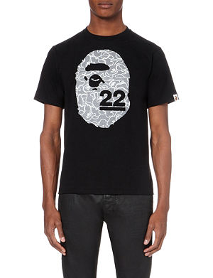 A BATHING APE 22nd anniversary ape cotton t-shirt