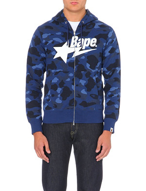 A BATHING APE Camouflage-print branded hoody