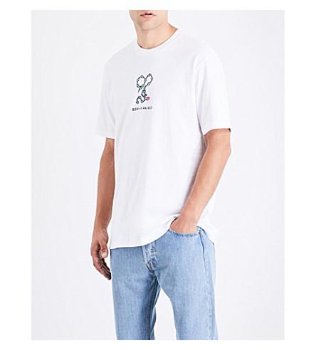BORN X RAISED Chivalry cotton-jersey T-shirt (White
