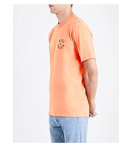 BORN X RAISED Westside Rocker cotton-jersey T-shirt (Peach