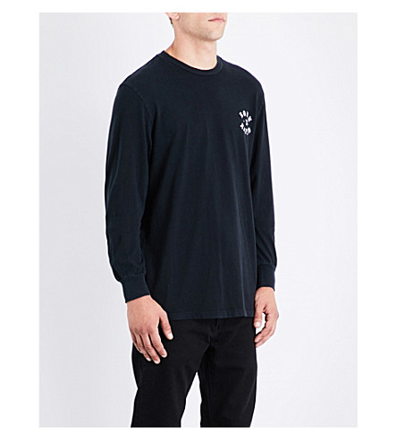 BORN X RAISED Madre cotton-jersey top (Black