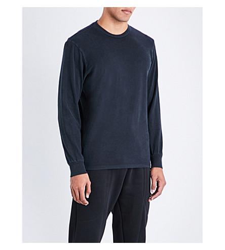 BORN X RAISED Cockfight cotton-jersey top (Black
