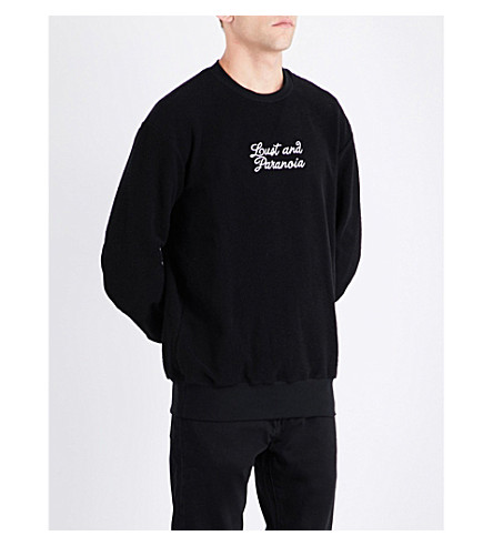 BORN X RAISED Sweat Lust Paranoia cotton-jersey sweatshirt (Black