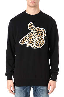 CROOKS AND CASTLES Air Gun Leopard sweatshirt
