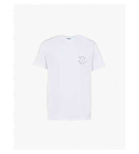 BORN X RAISED Westside Rocker cotton-jersey T-shirt (White