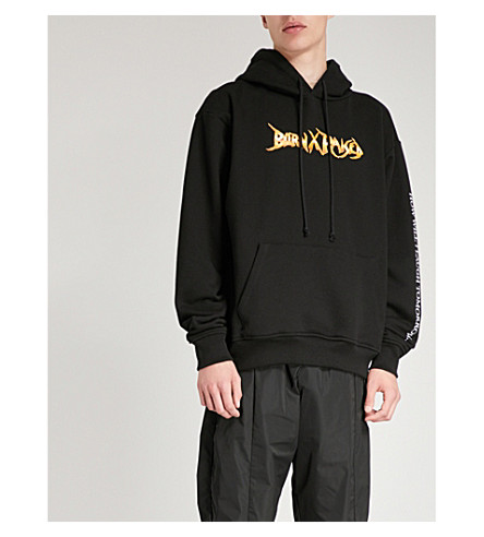 BORN X RAISED Stoney cotton-jersey hoody (Black
