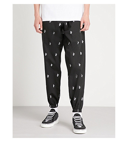 BORN X RAISED House Party cotton-jersey jogging bottoms (Black