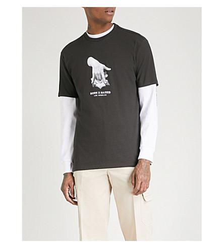 BORN X RAISED Rosie Cheeks cotton-jersey T-shirt (Vintage+black