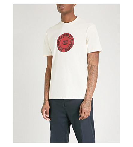 BORN X RAISED Genocidal cotton-jersey T-shirt (Cream