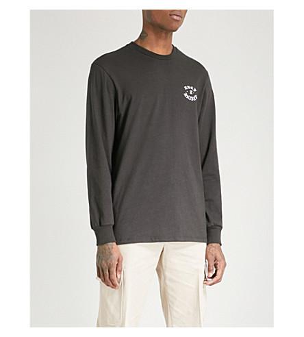 BORN X RAISED Logo-print cotton-jersey T-shirt (Vintage+black
