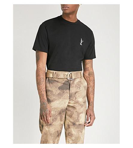 BORN X RAISED Snooty Fox printed cotton-jersey T-shirt (Black